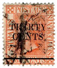 (I.B) Malaya (Straits Settlements) Postal : 30c on 32c OP