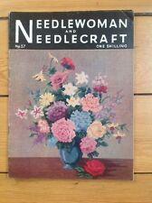 VINTAGE needlewoman e Needlecraft RIVISTA. gennaio 1954. n. 57