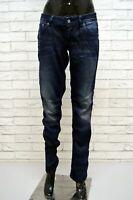 G-STAR Jeans Slim Donna Taglia 31 Pants Women's Pantalone Blu Hose Denim