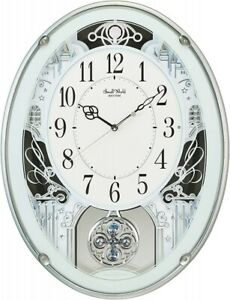 Rhythm Wall Clock Analog Small World Proud 18 Songs Fast Shipping From Japan