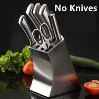 Universal Stainless Steel Knife Block Holder Rack Storage Organizer Kitchen Deco