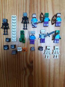 VRAI LEGO LOT FIGURINES MINECRAFT