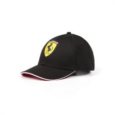 Scuderia Ferrari  Classic Kids Adjustable Black Hat