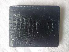 Black - Handmade Genuine Alligator - Crocodile Premium Leather Bifold Wallet