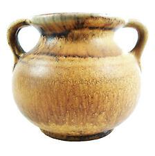 Mid Century Twin Handled Ceramic Vase - Matte Glaze - W. Germany - Circa 1950's