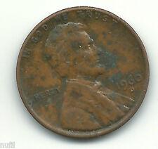 Estados Unidos USA 1 Lincoln cent 1960 D KM# 201