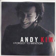 "ANDY KIM ""I Forgot To Mention"" 2011 UK 1-trk promo CD"