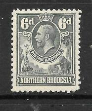 NORTHERN RHODESIA  1925-29  6d   KGV  PICTORIAL  MH  SG 7