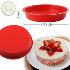 "7"" Round Silicone Cake Mold Pan Muffin Chocolate Pizza Pastry Baking Tray Mould"