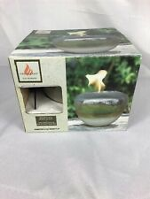 Fire Accent Gel Burner Hand Glazed Ceramic Canister Container