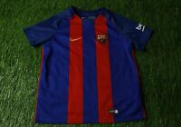 BARCELONA BARCA SPAIN 2016-2017 FOOTBALL SHIRT JERSEY HOME NIKE ORIGINAL KIDS XL