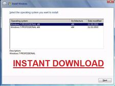 Windows 7 Professional SP1 - 32 & 64 Bit in una ISO (Digital Download)