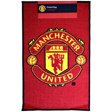 Manchester United Fc Crest Rug Bedroom Door Carpet Mat Floor Gift Xmas 80 X 50