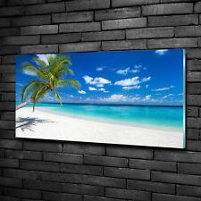 Glas-Bild Wandbilder Druck auf Glas 100x50 Deko Landschaften Tropischer Strand