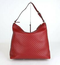 Gucci Red Micro-guccissima Leather Large Hobo Bag 449732 6420