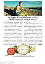 PUBLICITE ADVERTISING 125  1996  ROLEX montre datejust 16233 GOERGE SCHALLER