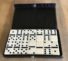A Full Set Of Vintage Dominoes. In Original Plastic Case. Good Condition.