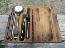 1800's Starrett #196 Antique Micrometer Caliper Dial Indicator Original Wood Box