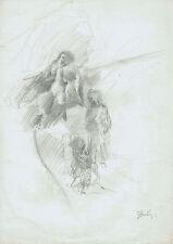 FIGURE FEMMINILI - ARDINGHI GIUSEPPE - Disegno Originale Lucca