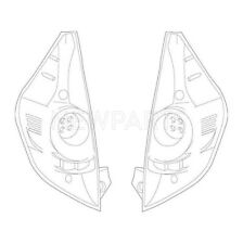 Pair Set of Rear Left & Right Tail Light Lamps Genuine for Toyota Prius C 12-14