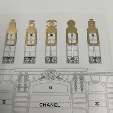 More details for new & authentic, chanel set of 5 metal bookmark