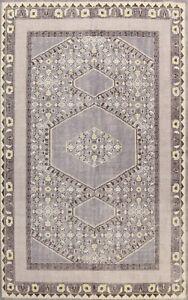 Geometric Gray Oushak Oriental Area Rug Dining Room Handmade Wool Carpet 8x11