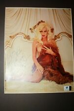 Autographed Picture of sexy Actress  Mamie Van Doren with COA