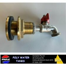 3/4 brass WATER TANK FITTING OUTLET and 3/4 COCK VALVE TAP FOOD GRADE NEW