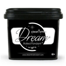 Dream Clean White Chocolate Based Fondant, 4 Lbs