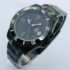 40mm sterile black Dial PVD Case Sapphire glass Miyota/NH35A Automatic Men Watch