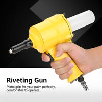 1X KP-705P Air Riveter Pistol Type Pop Pneumatic Tool Rivet Gun Tool 2.4-4.8m HT