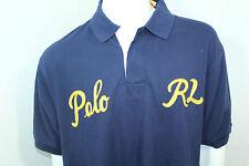 Polo By Ralph Lauren Big,Tall Classic-Fit Varsity Mesh Polo Shirt 2XB Blue Nwt