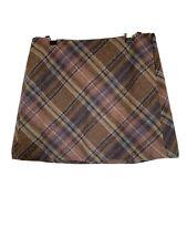 Gap Tartan style 100% wool check mini skirt size 4 us - 8 uk tweed