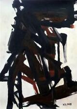 FRANZ KLINE Great Oil on Canvas Art Painting Hand Signed. Abstract Expressionism