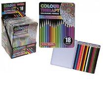 Intense couleur qualité 18Pc adulte livre de coloriage crayons en cas art therapy set