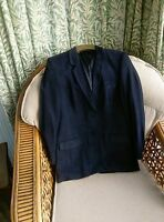 Vintage St Michael Marks and Spencer Jacket Blazer Classic Style Size 10 Navy