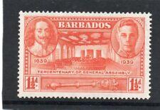 Barbados GV1 1939 Gen. Assembly 1.1/2d, sg 259 H.Mint