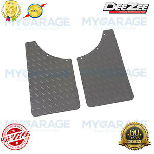 Dee Zee DZ1808TB Black Diamond Plate Mud Flaps for Chevy Dodge Ford GMC RAM Jeep