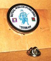 Royal Welch Fusiliers Veteran lapel pin badge .