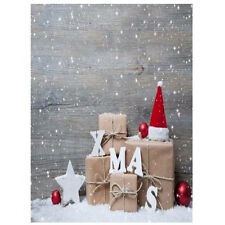 3x5FT Vinyl Photography Backdrop Wall Photo Background Christmas hat T4F3