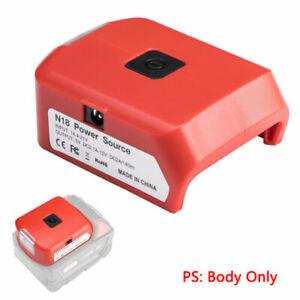 Dual USB Ports Phone Charger For Milwaukee 18V-20V Li-ion Battery Adapter Tool