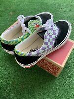 Vans Era Twist Warp Checker Green Purple Low Sneakers Men's Sz 8.5 VN0A4UUG1V0