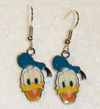 """#536 hANDSOME """"DONALD DUCK"""" Colorful Dangle Charm Hook Earwire Earrings"""