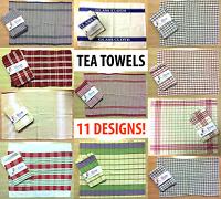 5 PACK Terry Tea Towel Cloth Set 100% Cotton Glass Dish Hand Kitchen Bar Cafe