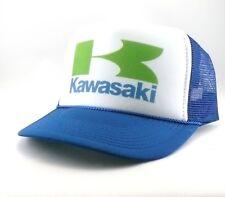 Kawasaki Trucker Hat mesh hat snapback hat blue new adjustable motorcycles