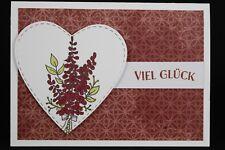 Glückwunschkarte zum Geburtstag, Verlobung, Hochzeit - Handarbeit   500-35