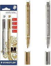 Staedtler Metallic Marker Pens - Set of 2 Pens - Gold and Silver - 8323-S BK2