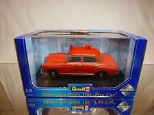 REVELL 8807 MERCEDES BENZ 180 FIRE CAR - RED 1:18 RARE - GOOD IN BOX