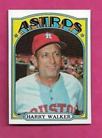 1972 TOPPS # 249 ASTROS HARRY WALKER MANAGER NRMT+  CARD (INV# A8545)