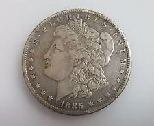 1885-O Morgan E. PLURIBUS UNUM One Dollar USA Silver Coin